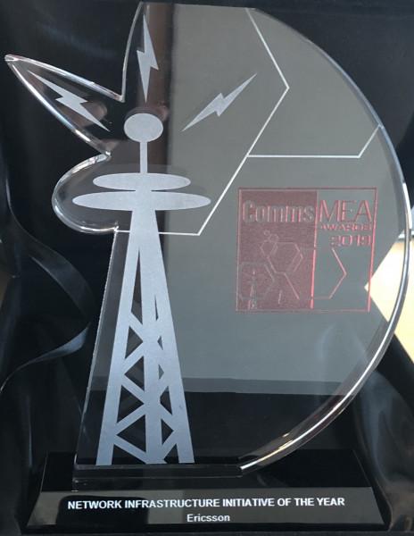 اريكسون تفوز بجائزة مبادرة البنية التحتية الأفضل للشبكة