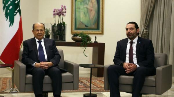 عون يبحث مع الحريري إيجاد حل للوضع الحكومي