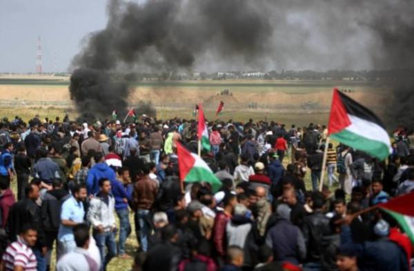 """مركز حقوقي يكشف حصيلة الجمعة """"82"""" ضمن فعاليات مسيرات العودة"""