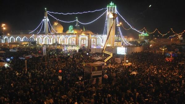شاهد: العراقيون يحتفلون بالمولد النبوي على طريقتهم