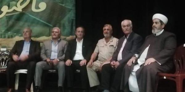 الامين العام لاتحاد عمال فلسطين يشارك بالمهرجان السياسي بمناسبة ذكرى أبو عمار