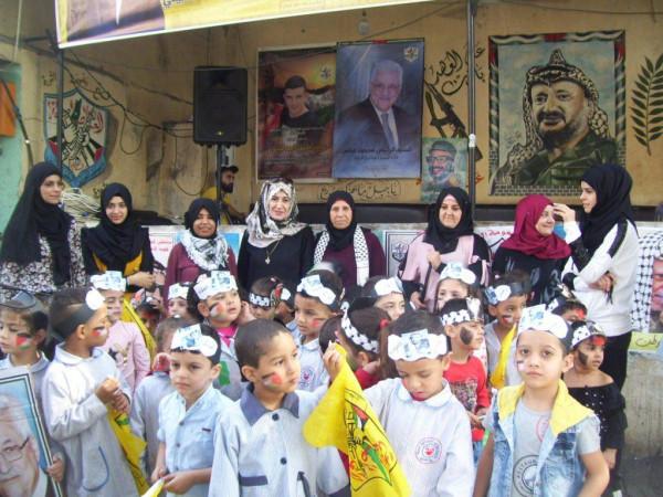 الأطفال بعين الحلوة ينظمون وقفة عرفان وتحية للشهيد أبوعمار