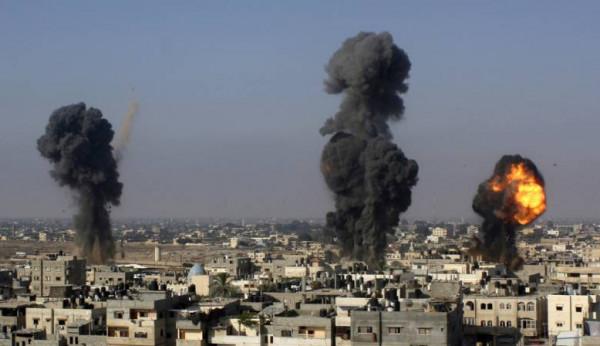 الحصيلة (12).. شهيدان وسط القطاع وطائرات الاحتلال تواصل قصف غزة