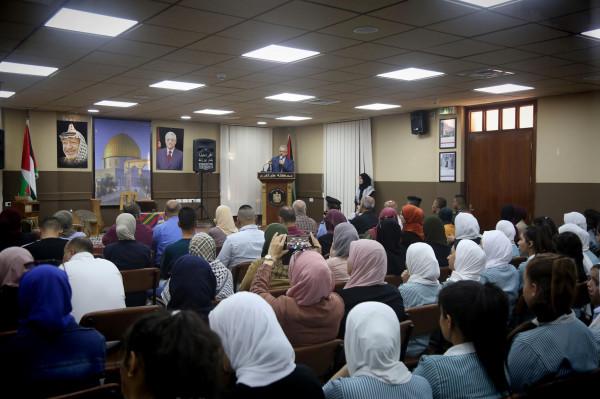 لجنة الشبيبة الثانوية تنظم عرضا مسرحيا عن حياة ياسر عرفات