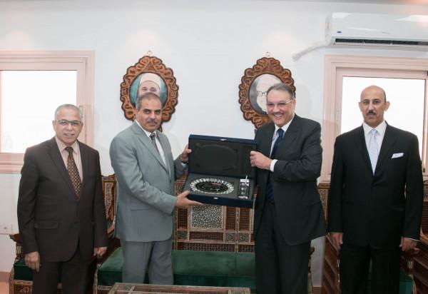 السفير السعودي يزور جامعة الازهر لبحث لتعزيز سبل التعاون المشترك