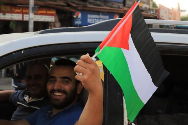 الأعلام الفلسطينية ترفرف في أريحا والأغوار بمناسبة ذكرى إعلان الاستقلال