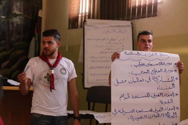 مفوضية الخليل وجوالة جامعة الخليل يشاركون بملتقى عشائر جوالة ومنجدات الجامعات الفلسطينية