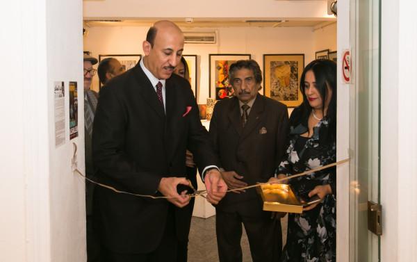 النامي يحضر افتتاح معرض الفنانة التشكيلية السعودية دنيا الصالح