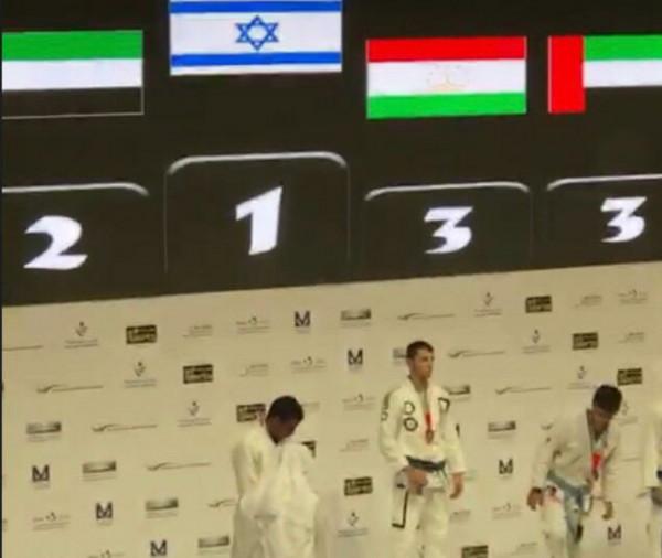 """شاهد: """"النشيد الوطني"""" لإسرائيل يعزف بأبو ظبي بعد فوزها ببطولة رياضية"""