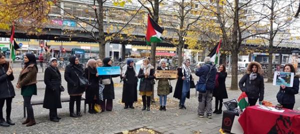 وقفة احتجاجيّة جماهيريّة في برلين تضامناً مع أسرانا البواسل وشعبنا في غزة