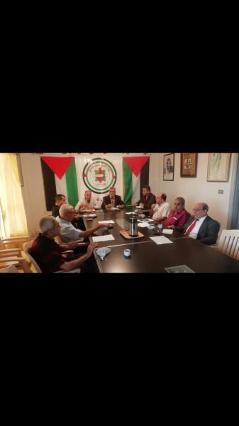 اتحاد عمال فلسطين يلتقي أمين سر فتح وأمناء سر الفصائل بمنطقة صيدا