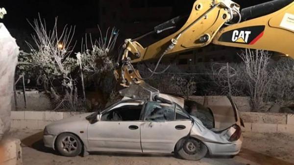 الشرطة وبإسناد من الاجهزة الامنية تتلف 60 مركبة غير قانونية جنوب نابلس