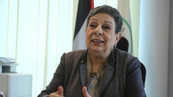عشراوي ورئيسة مؤسسة السلام بالشرق الأوسط تبحثان آخر التطورات السياسية