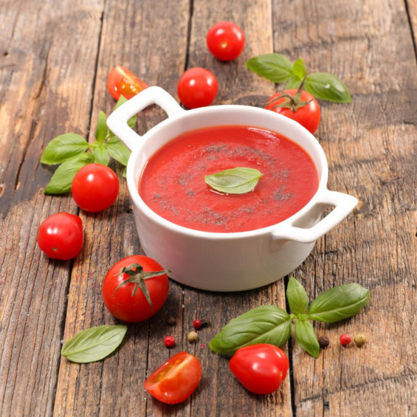 شوربة الطماطم باللحم المفروم