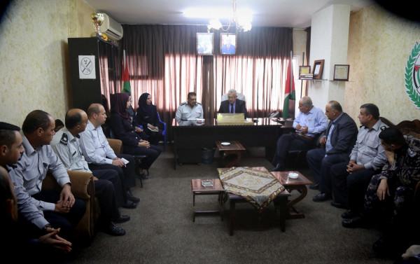 محافظ طولكرم يزور مديرية الدفاع المدني