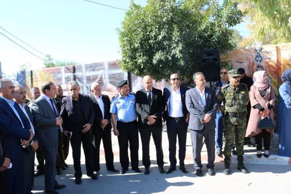هيئة التوجيه السياسي الوطني تفتتح جدارية الياسر والاستقلال في سلفيت