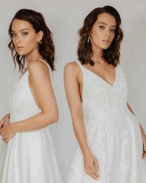 """فكرة مبتكرة من مصممة أزياء للعروسة """"المترددة"""""""