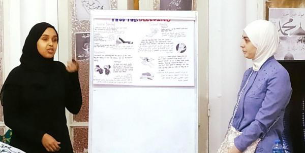 """مركز """"محور"""" يستقبل طالبات كلية ابن سينا و""""فتيات نابلس"""" يفتتح دورة الإسعاف"""
