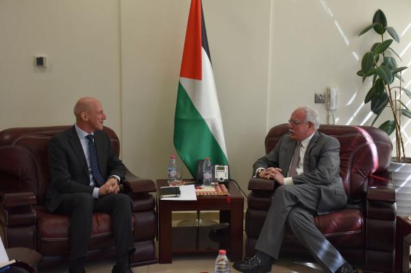 المالكي يُودع رئيس مكتب تمثيل سويسرا لدى دولة فلسطين لانتهاء مهامه