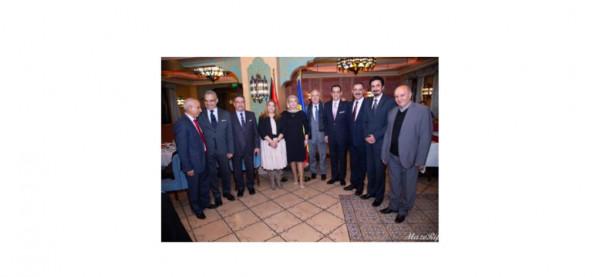 عياش يكرم سفير الأردن لدى رومانيا سفيان القضاة بمناسبة تسلمه مهام عمله