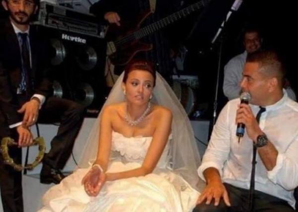 """بشرى ترد على """"صورتها النكدة"""" في زفافها"""