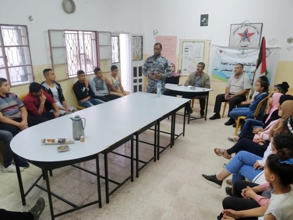 تنظيم محاضرة حول دور الضابطة الجمركية في أريحا