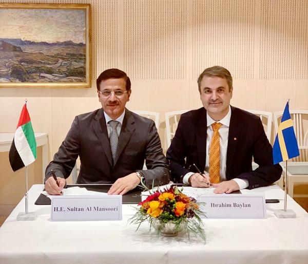 الإمارات والسويد توقعان مذكرة جديدة للتعاون في الابتكار والشركات الصغيرة والمتوسطة وريادة الأعمال