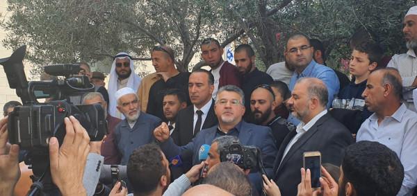 جبارين: محكمة الشيخ رائد كانت محاكمة لنصوص دينية ولمواقف ضد الاحتلال