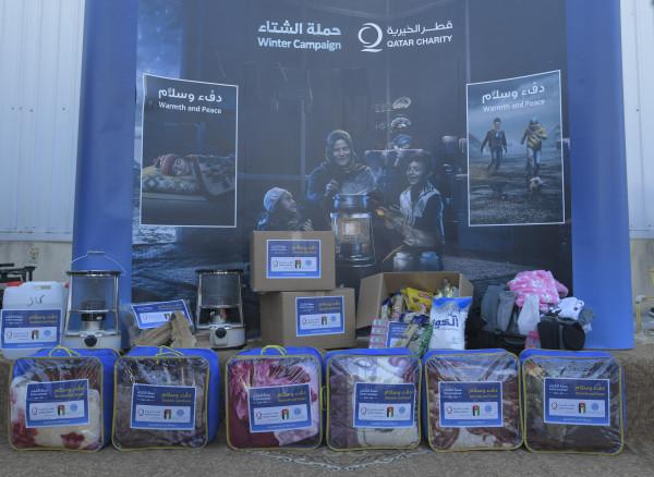 وفد قطر الخيرية يطلق حملة دفء وسلام لمواجهة برد الشتاء