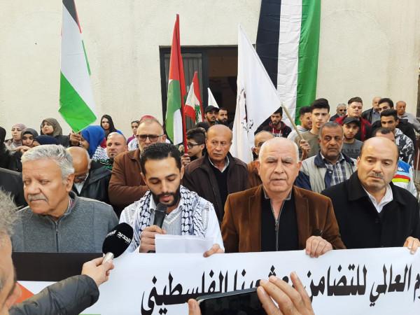 فلسطنيون البقاع يعتصمون في اليوم العالمي للتضامن مع الشعب الفلسطيني