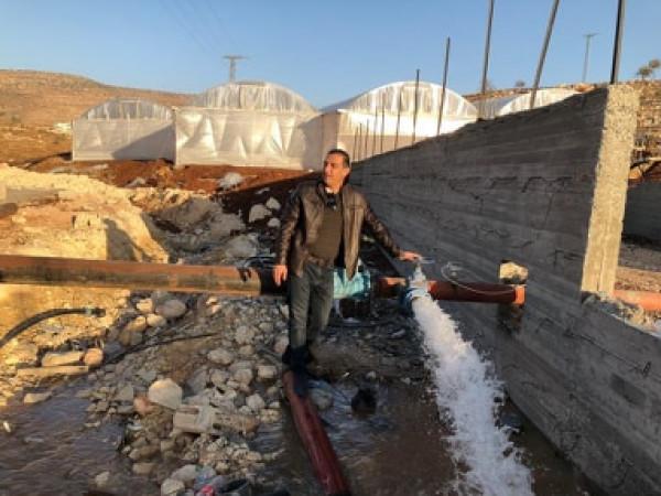 قوات الاحتلال تهدم خزان مياة لشركة مجلي للمرة الثانية في طوباس