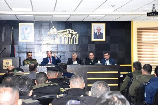 محافظ سلفيت يلتقي مدراء المؤسسة الامنية و120 من ضباط المؤسسة الأمنية
