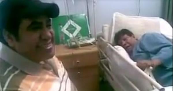 60 ثانية مؤثرة جمعت أحمد عدوية مع شعبان عبدالرحيم في لحظاته الأخيرة