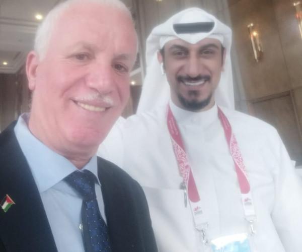توثيقاً للعلاقات والتعاون المشترك..فلفل يلتقي الصالحي عضو لجنة الإعلام الكويتية