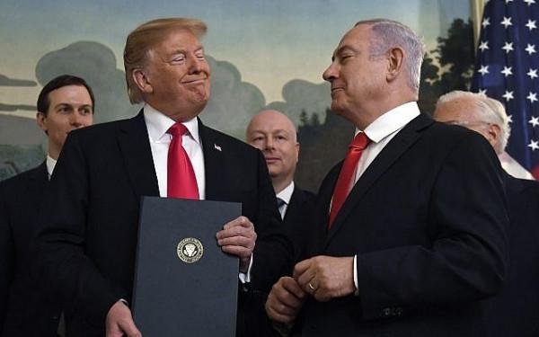 """""""الديمقراطية"""" في ذكرى توقيع ترامب الإعتراف بالقدس عاصمة لإسرائيل"""