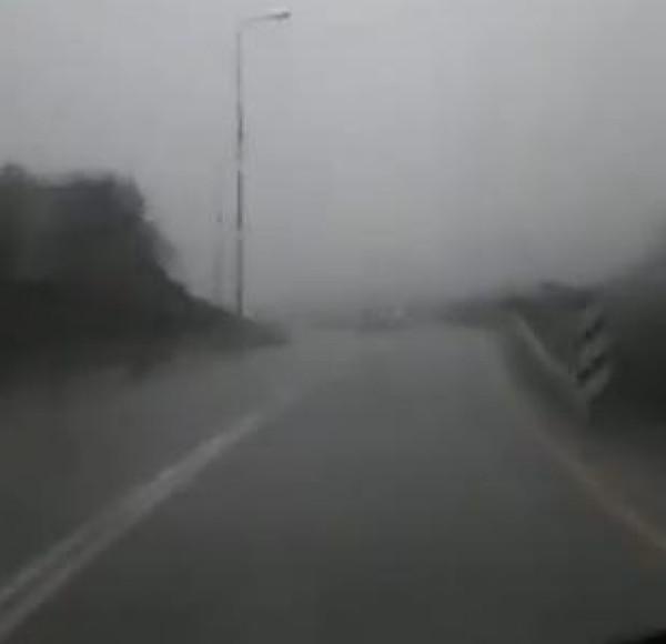 شاهد: هطول الامطار الغزيرة على هضبة الجولان