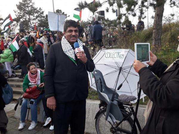 تكريم رسمي وشعبي فرنسي لاكاديمي فلسطيني من غزة
