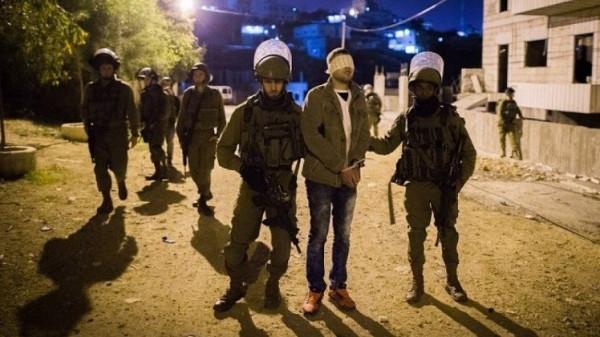 اعتقال عدد من المواطنين في مناطق متفرفة من الضفة الغربية