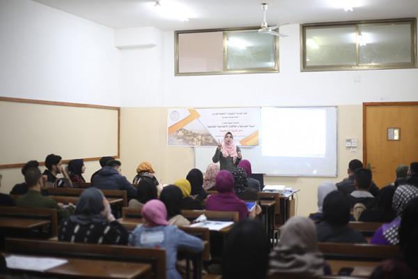 """قسم الهندسة المعمارية ينظم محاضرة """"البيئة العمرانية والعلاقات الاجتماعية التفاعلية بالقرية الفلسطينية"""""""