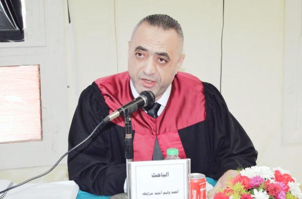 باحث الفلسطيني يحصل على الدكتوراة مع مرتبة الشرف من جامعة المنصورة بمصر