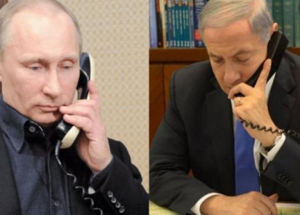 تفاصيل مكالمة هاتفية بين نتنياهو وبوتين أمس