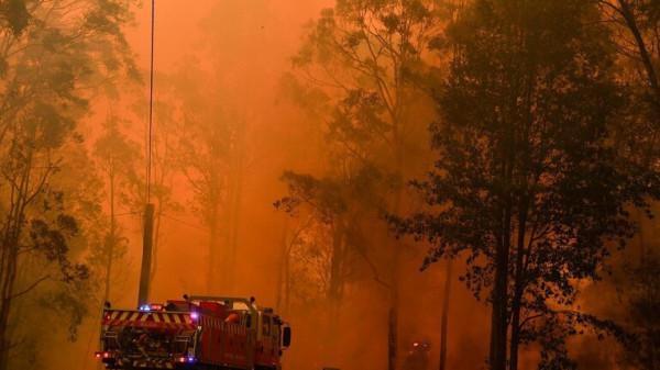 احتدام الحرائق في غابات أستراليا