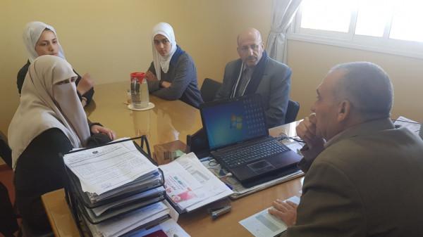 """فريق مبادرة """"صمّمت فأبدعت فتألقت"""" يزور مديرية شمال غزة"""