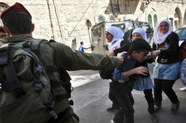 """شاهد: الاحتلال يعتقل طفلة أثناء توجهها للمدرسة قرب """"الإبراهيمي"""""""