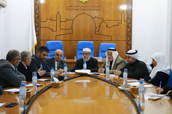 لجنة التربية بالتشريعي تلتقي وكيل وزارة الصحة