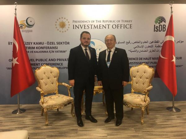 فلسطين وتركيا تبحثان مجالات الاستثمار المشتركة