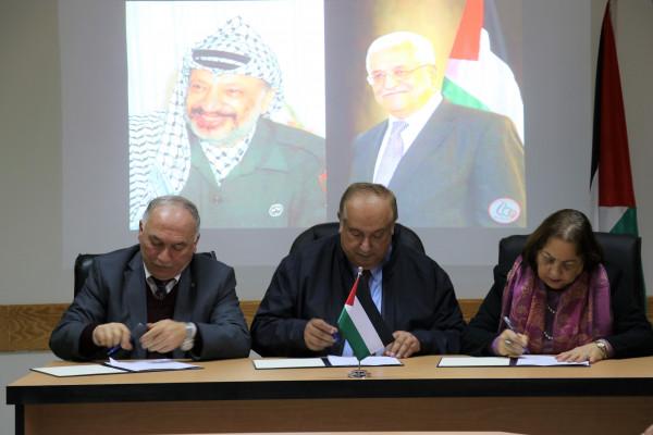 توقيع اتفاقية شركة في برنامج الطب البشري بين القطاع الحكومي وجامعة الخليل