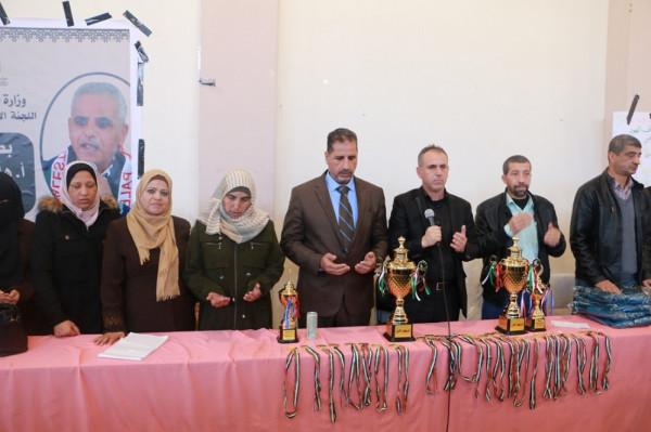 تعليم شرق غزة تتوج بالمركز الثاني في البطولة المركزية لتنس الطاولة بنات