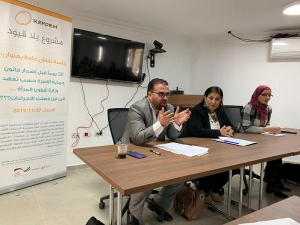 جلسة نقاش حول تعهد وزارة المرأة بإصدار قانون حماية الأسرة من العنف