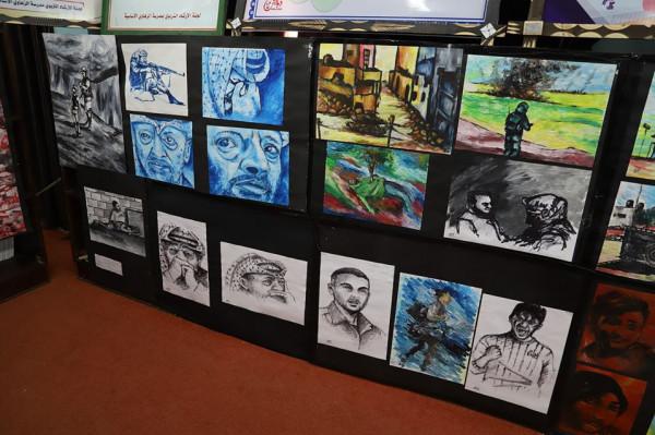 مدارس مديرية تعليم غرب غزة تقيم معرضاً فنياً ثقافياً علمياً